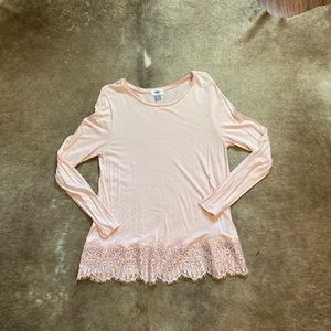 Old Navy Light Pink Top Size Large